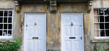 Two white front doors - Valuations